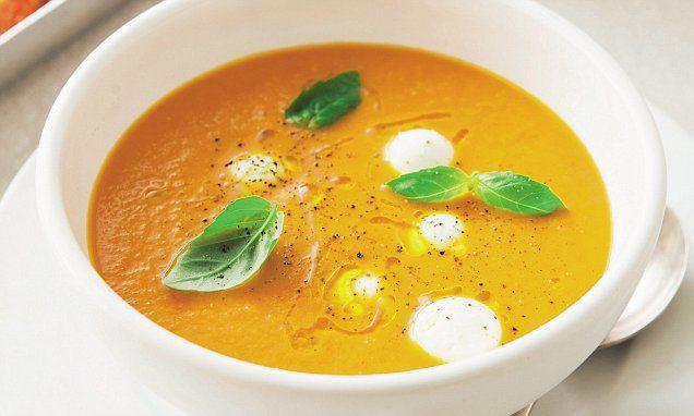 Davina McCall: Roast tomato soup with mozzarella balls