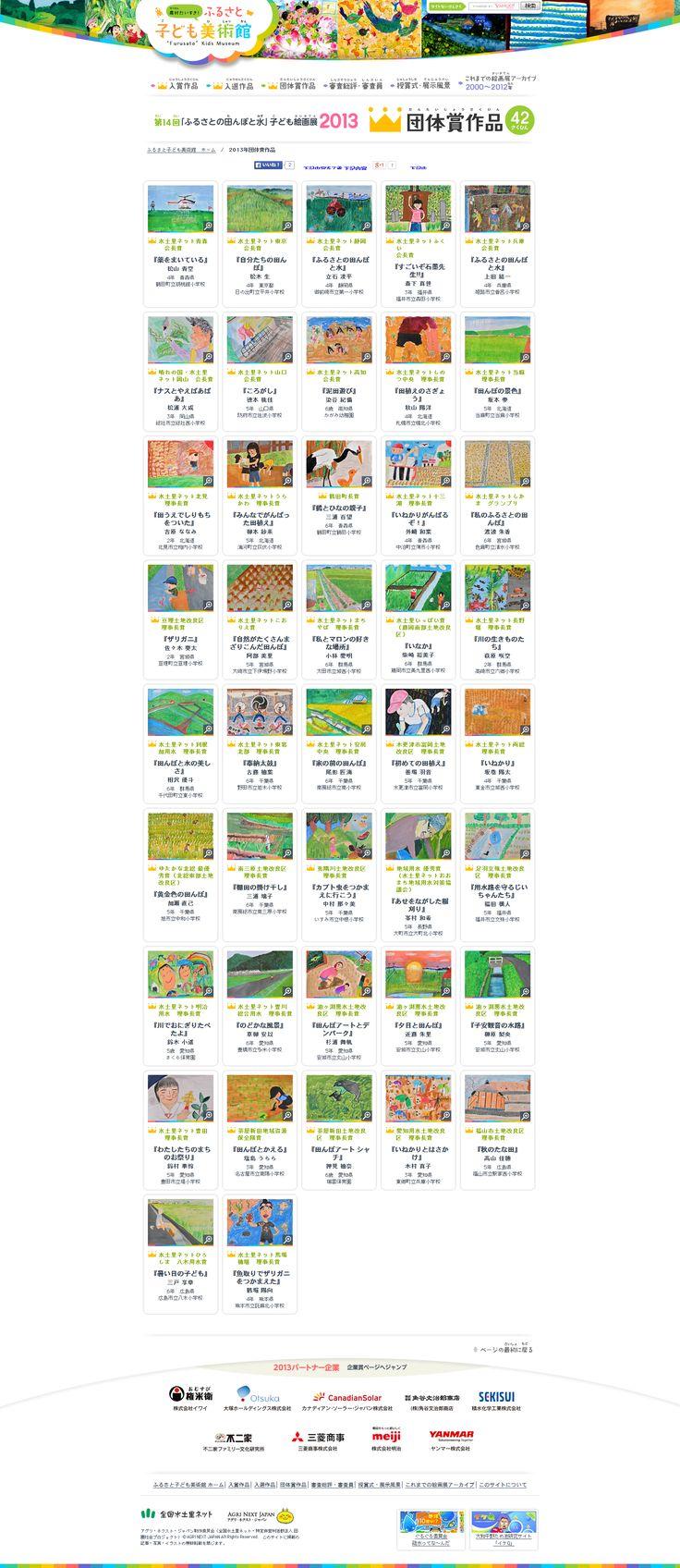 2013年 団体賞作品 ふるさとの田んぼと水 子ども絵画展 農村だいすき!ふるさと子ども美術館