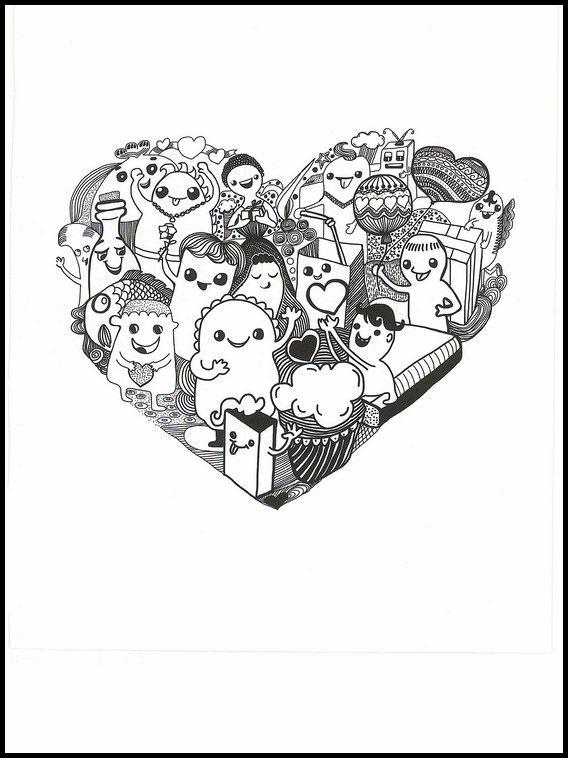 kawaii 34 ausmalbilder für kinder malvorlagen zum