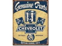 Chevrolet Parts Pistons Tin Sign