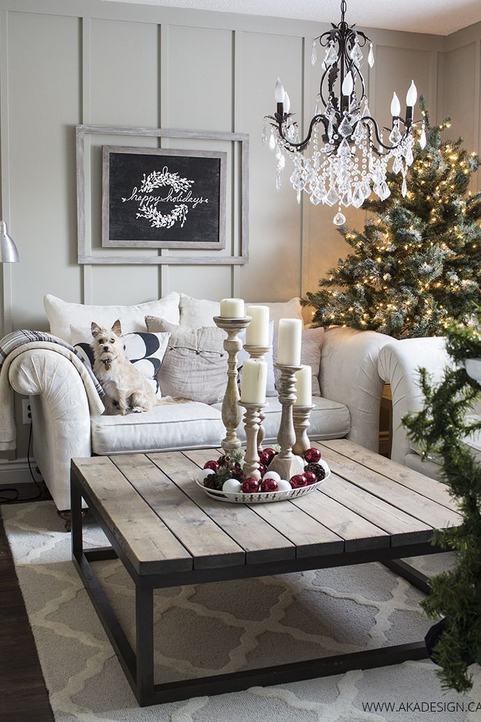 90 Best Christmas Decoration Ideas For The Merriest Home On The Block French Country Decorating Living Room Christmas Living Rooms Country Living Room Design