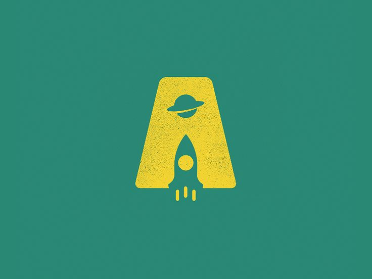 Letter A + Rocket + Planet (Negative Space Logo).  You need a Smart Logo for your company?   Visit: Smart Logo Designs