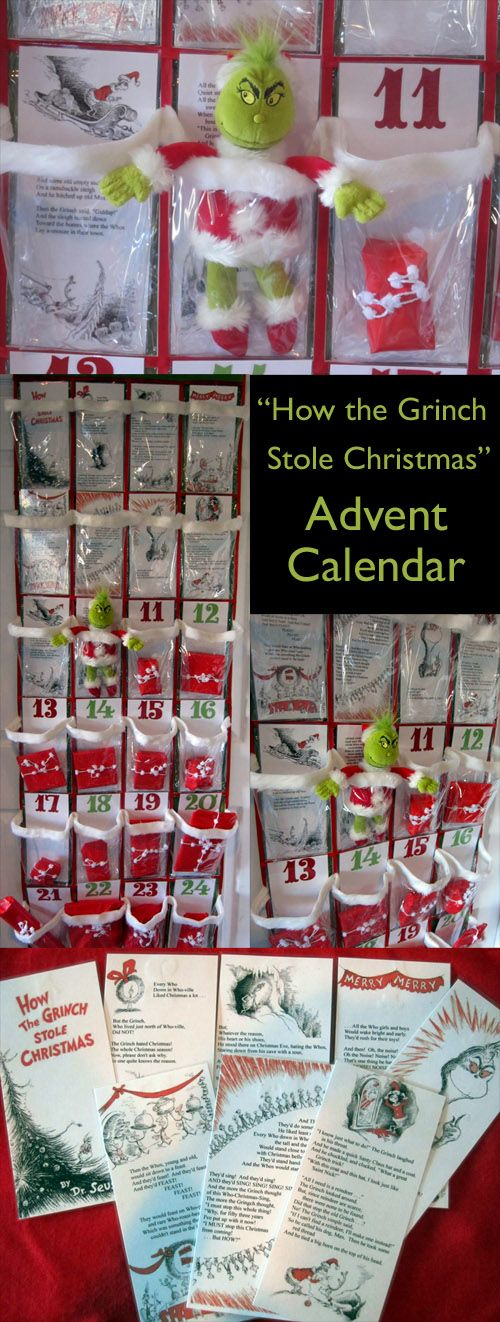 So for me.....Grinch Advent Calendar..not sure i could pull off the grinch theme.. but good idea to use a shoe organizer