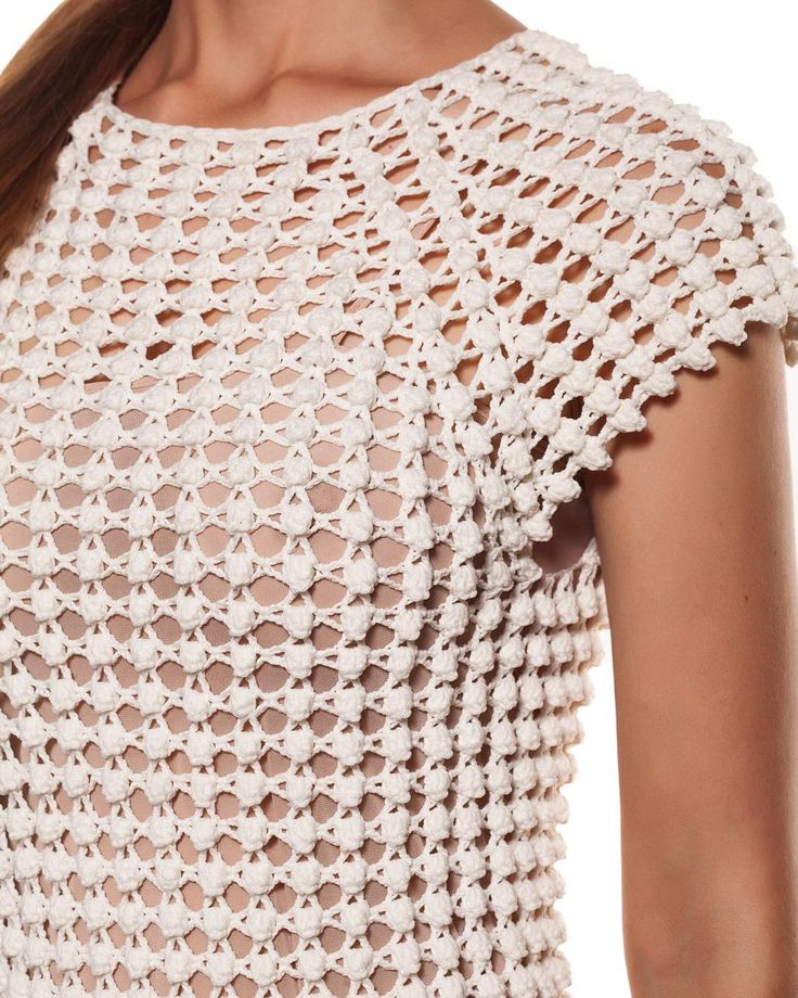 Helen Rödel crochet dress - detail