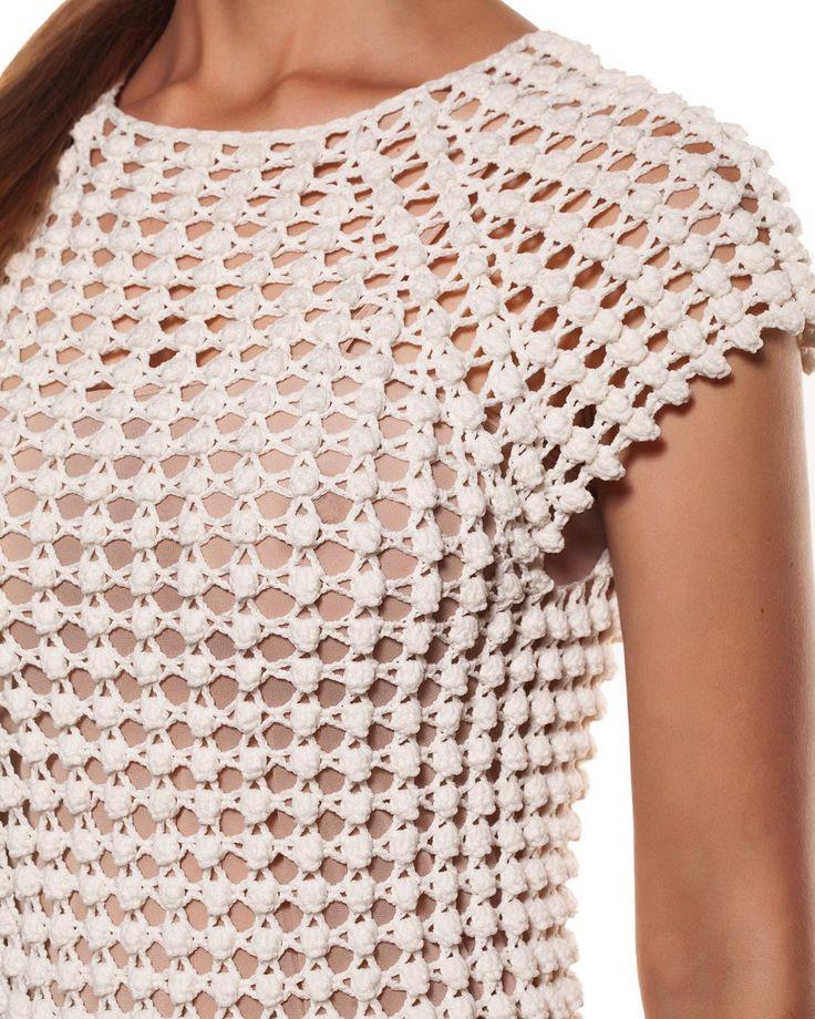 Helen Rödel crochet dress - detail