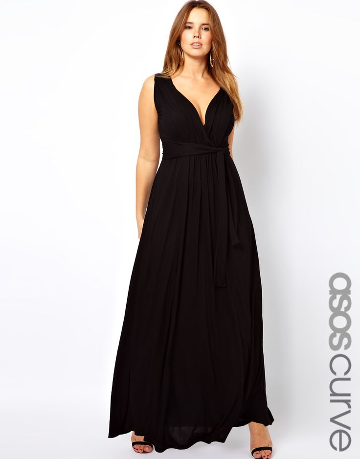 Asos Curve Exclusive Grecian Maxi Dress  Grecian Maxi -6699