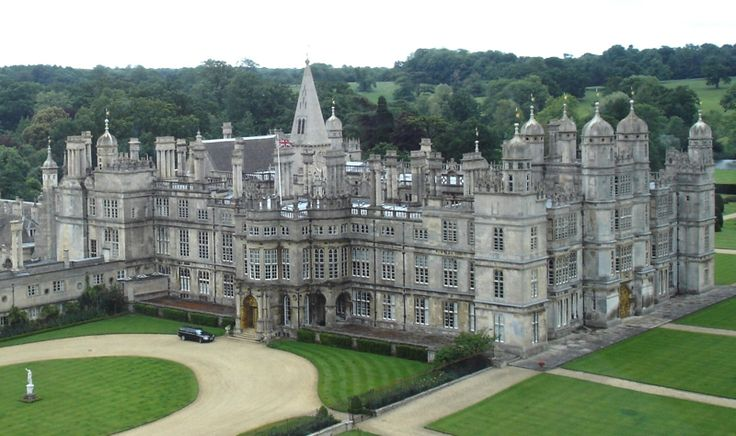Burghley House.  Used in movie Pride and Prejudice (2005) as Rosings Park.