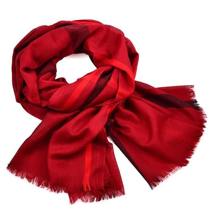 Šála 69cu013-22 - červená kostkovaná - Bijoux Me!
