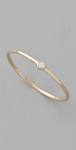 ginette_ny Mini Solitaire Ring