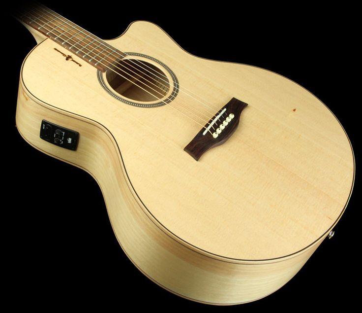 Seagull Natural Elements Mini Jumbo Acoustic Electric Guitar Semi Gloss