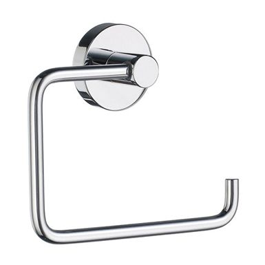 Home - Toilet Roll Holder in Polished Chrome. Concealed fastening. Minimalism and simplicity has resulted in this clean and functional range. The core material is solid brass, finished in brushed or polished chrome.