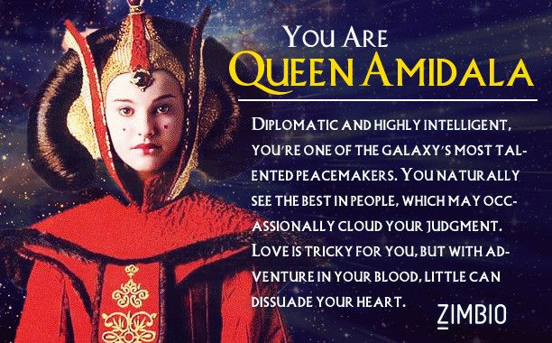 I took Zimbio's 'Star Wars' personality quiz, and I'm Queen Amidala. Who are you?