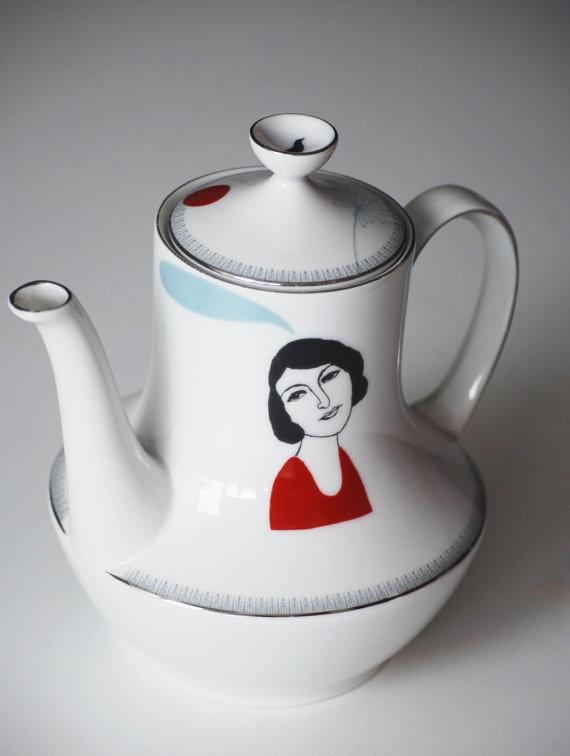 Vintage teapot Madeleine van celindaversluis op Etsy, €49,00