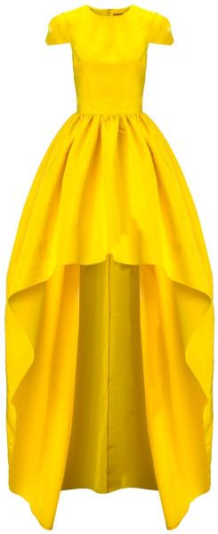 Katie Ermilio Yellow Silk Faille Hem Gown in Yellow - Lyst     jaglady