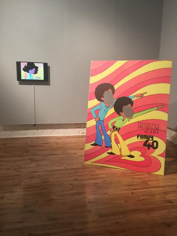 I visited the Pensacola Museum of Art over spring break. This was an interesting yet small museum with very little use of technology! However they had an exhibit up called 'Funky Turns 40' which was focused around the rise of african american cartoon characters, celebrating these cartoons and also the changes that have been made in cartoons since that time period. There were two televisions present in the space, which were playing portions of shows with these characters present in them!