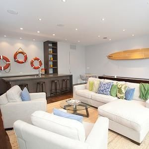 19 best images about below deck basement family room on for Beach themed family room ideas