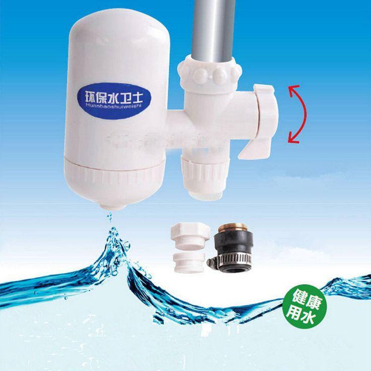 Filtro de agua de la Cocina En Casa Sana Salud Cartucho De Cerámica Del Grifo de Agua Del Grifo Filtro Purificador de Alta Tecnología Blanco