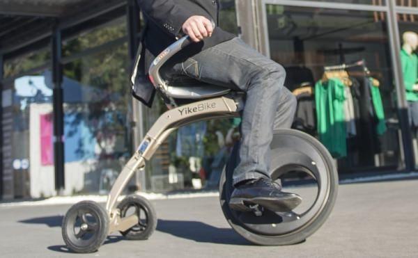椅子に座ってコロコロ走る? 電動バイク「YikeBike」が kickstarter キャンペーンを開始 [えん乗り]