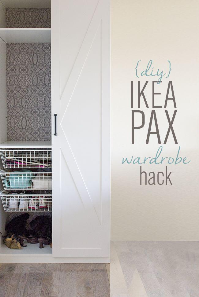 ikea pax door hack diy barn door style wardrobes jenna sue design pinterest ikea pax. Black Bedroom Furniture Sets. Home Design Ideas