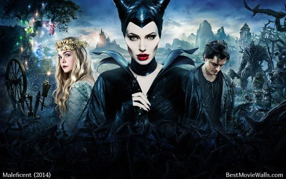 Maleficent movie - all characters Maleficent, Princess Aurora and the shapeshifter Diaval!