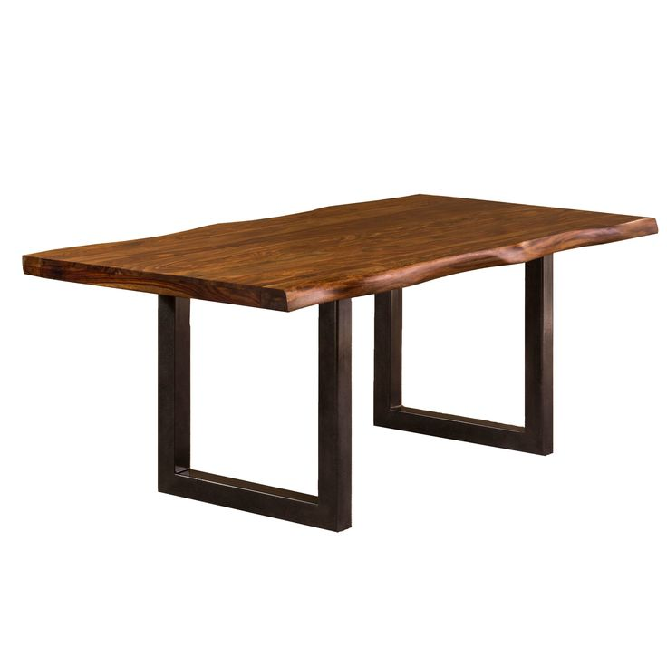 Hillsdale Furniture Emerson Natural Sheesham Metal/Wood Rectangle Dining  Table (Emerson Rectangle Dining Table