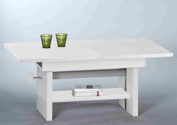 Couchtisch EVENT Wohnzimmertisch Beistelltisch Tisch Hhenverstellbar In Weiss