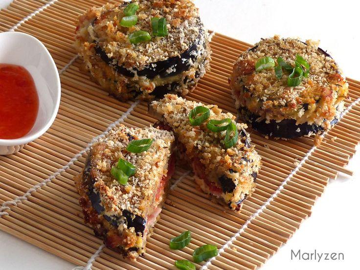 Marlyzen, cuisine revisitée: Sandwiches croustillants d'aubergine