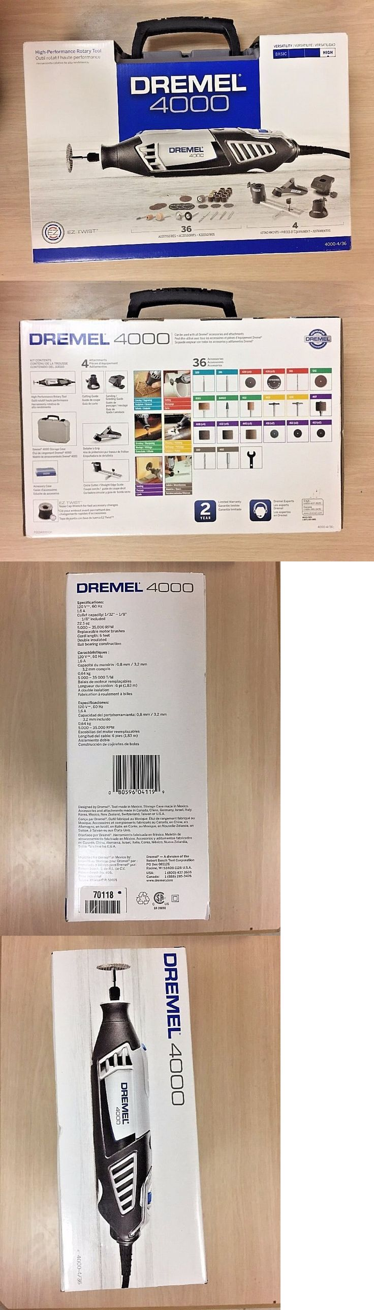 Other Power Grinders and Accs 20778: New Dremel High Performance Rotary Tool Kit 4000. 4 Attachments, 36 Accessories -> BUY IT NOW ONLY: $87.99 on eBay!