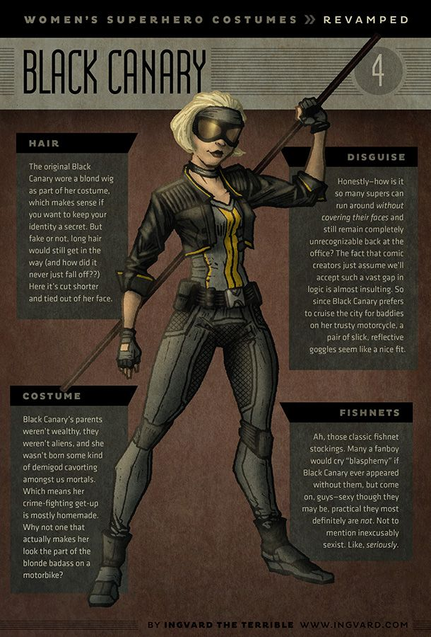 Female Superhero Practical Redesigns