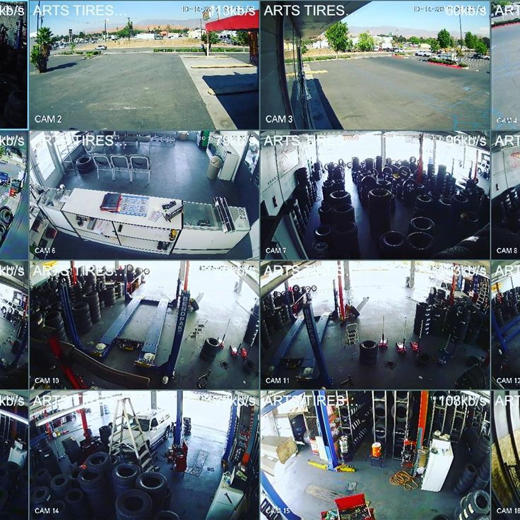 We secured business recently and put a 16 Camera system for this tire shop #tires #lakeelsinore #camera #securitycamera #protect #adt #stealth #auto #mechanic #mechanics