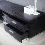 "B-Modern - Promoter 79"" Black Ash TV Stand - BM-120-BLK  SPECIAL PRICE: $1,239.00"