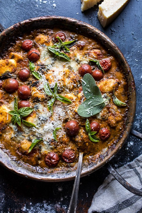 One-Pan Spinach and Cheese Gnocchi with Roasted Garlic ...