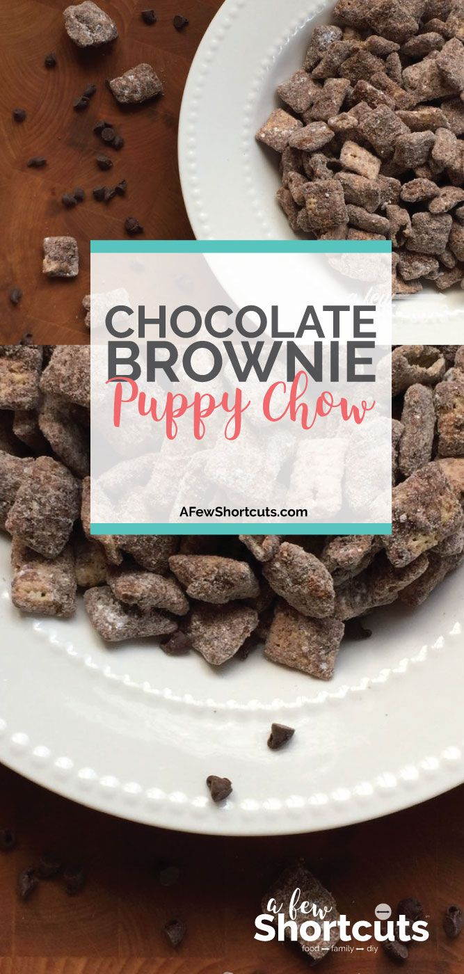 An amazing snack and an even more amazing gift! Check out this yummy and simple Chocolate Brownie Puppy Chow Recipe! Plus it can be made gluten free!