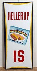 Emaljeskilt: Hellerup Is, 118 x 50 cm
