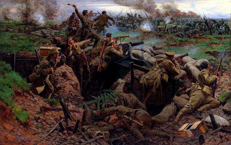 La segunda Batalla de Ypres (Frezenberg). Artista William Barnes Wollen, 1915. Más en www.elgrancapitan.org/foro