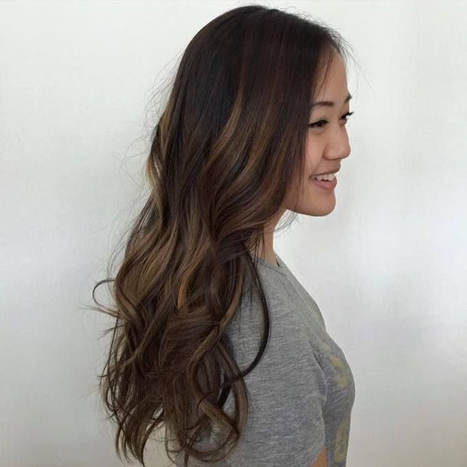 Balayage on virgin Asian hair