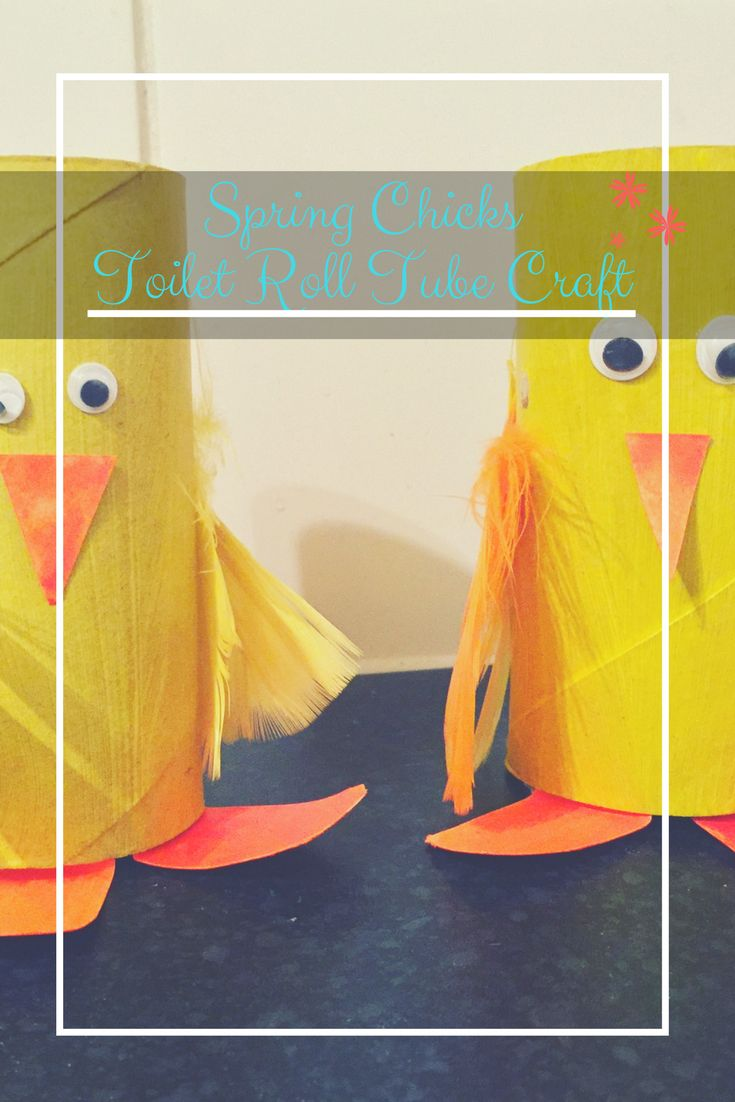 Spring chicks toilet roll tube craft