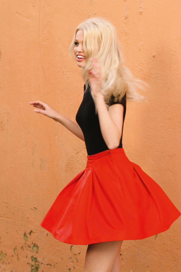 Daphne Groeneveld on Shooting Her Dior Fragrance Campaign. Love this outfit.