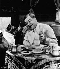Roscoe Arbuckle and his dog Luke