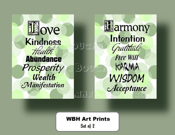 Typography Wall Art Law of Attraction by WeddingsBabiesHome