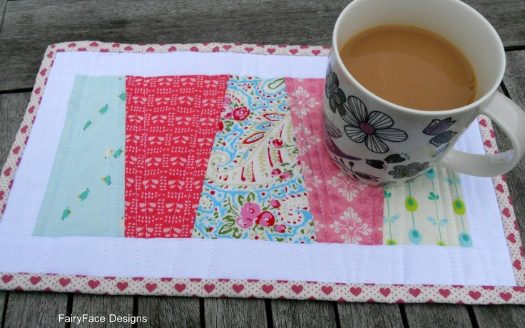 Easy Mug Rug Tutorial - Introduction to Quilting