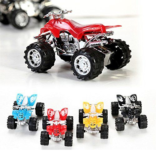 Novelty Toy , Pullback Motors Racers (4 Pack/Random Color) Dune Buggy Racing Pull-back ATV Vehicle PULL&SPEED Motorbike For Kids Baby Toy Xmas Gift Christmas Present