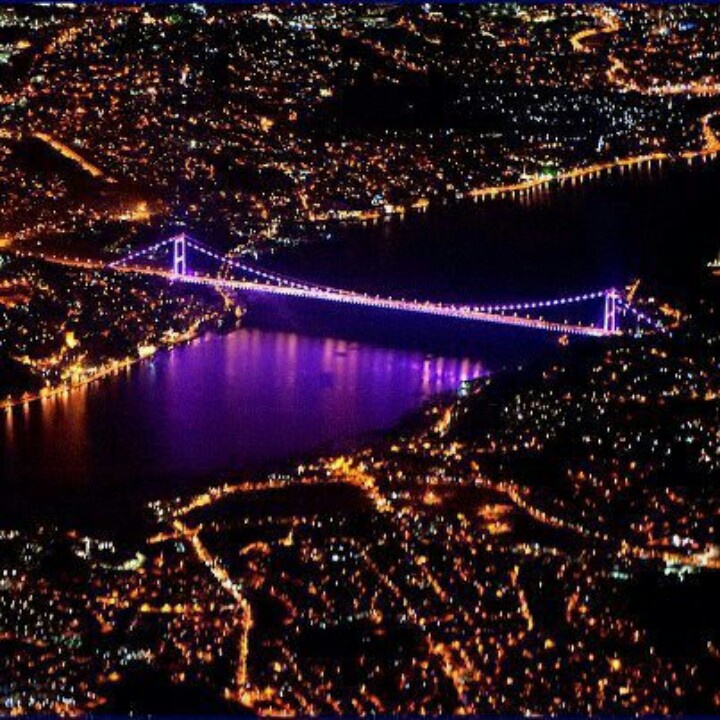 The Bosphorus or Bosporus, also known as the Istanbul Strait, is a strait that forms part of the boundary between Europe and Asia. The Bosphorus, the Sea of Marmara, and the Dardanelles strait to the southwest together form the Turkish Straits.