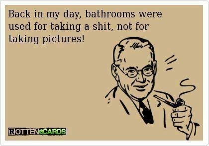 Bathrooms - just had to pin this and I dedicate it to my daughter.
