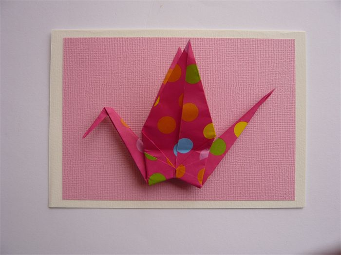""" ORIGAMI bird "" Greeting Card Polka dot | riri & lolo | madeit.com.au"