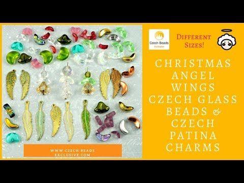 Video! ANGEL Wings Christmas Czech Glass Beads & Czech Patina Charms     #dawanda #dawanda_de #dawandashop #etsy #etsyshop #etsystore #etsyfinds #etsyseller #amazon #amazondeals #alittlemercerie #angel #angelwings #angeljewelry #angelcharm #patina #christmasangel #czechbeads #glassbeads #czechglassbeads #czechglassjewelry