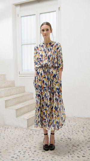 christophe lemaire SS14. Available at 4 now: http://shopnumber4.com/women/dresses/christophe-lemaire-maxi-shirt-dress-multi-8812.html
