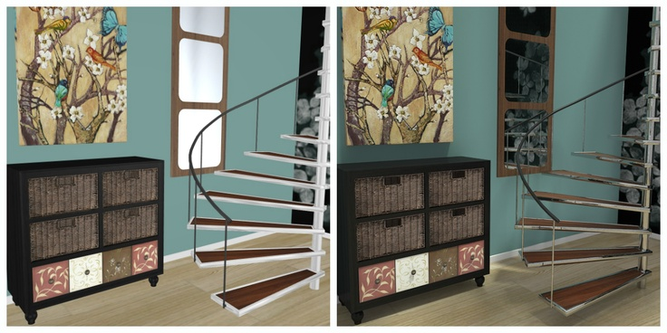 Best 3D Floor Plan Which Hallway With Spiral Staircase Looks 400 x 300