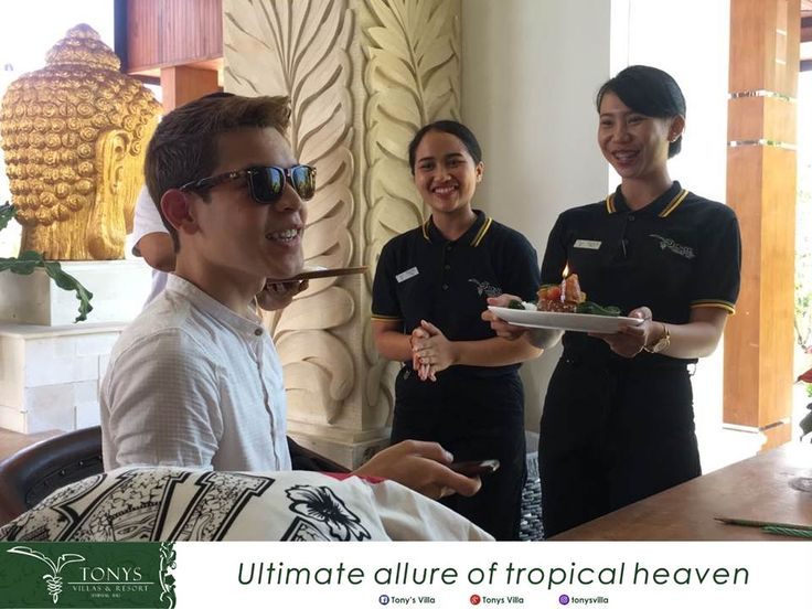 Happy birthday Mr. Antonio Abad we wish you all the best and thank you for choosing Tonys Villas & Resort Seminyak Bali for your stay. It's our pleasure to deliver you a surprise on your special day. . . . #Bali #Seminyak #vacation #holiday #wonderfulplaces #honeymoon #birthday #surprise #tonysvilla #balimagic #photooftheday #staydifferent #letsgosomewhere #villainseminyak #holiday #surprise #birthday #smallparty www.balitonys.com
