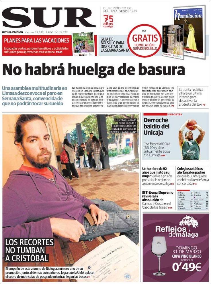 SUR. (El periódico de Málaga desde 1937).